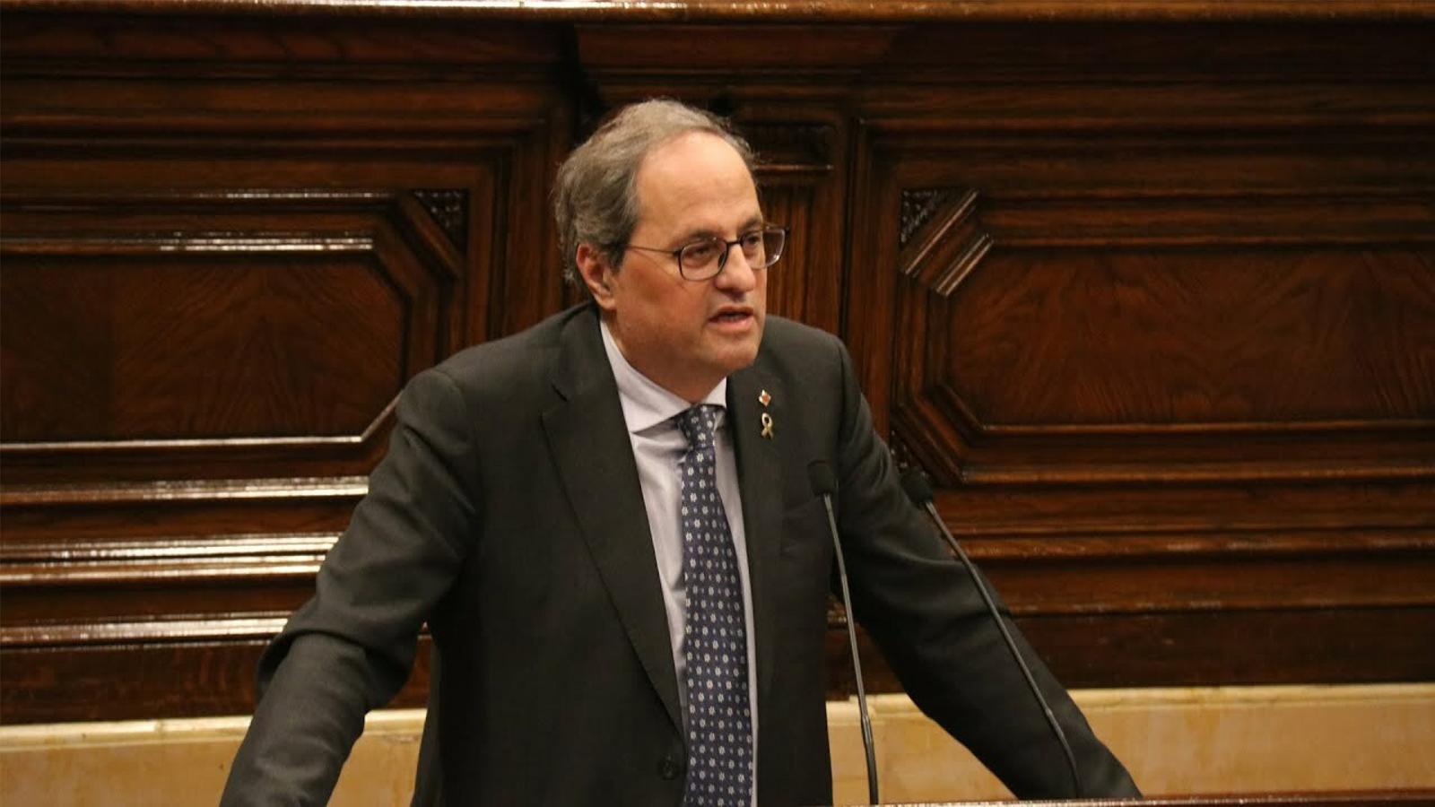 """Torra: """"La retirada de l'acte de diputat posa en risc la continuïtat de les institucions"""""""