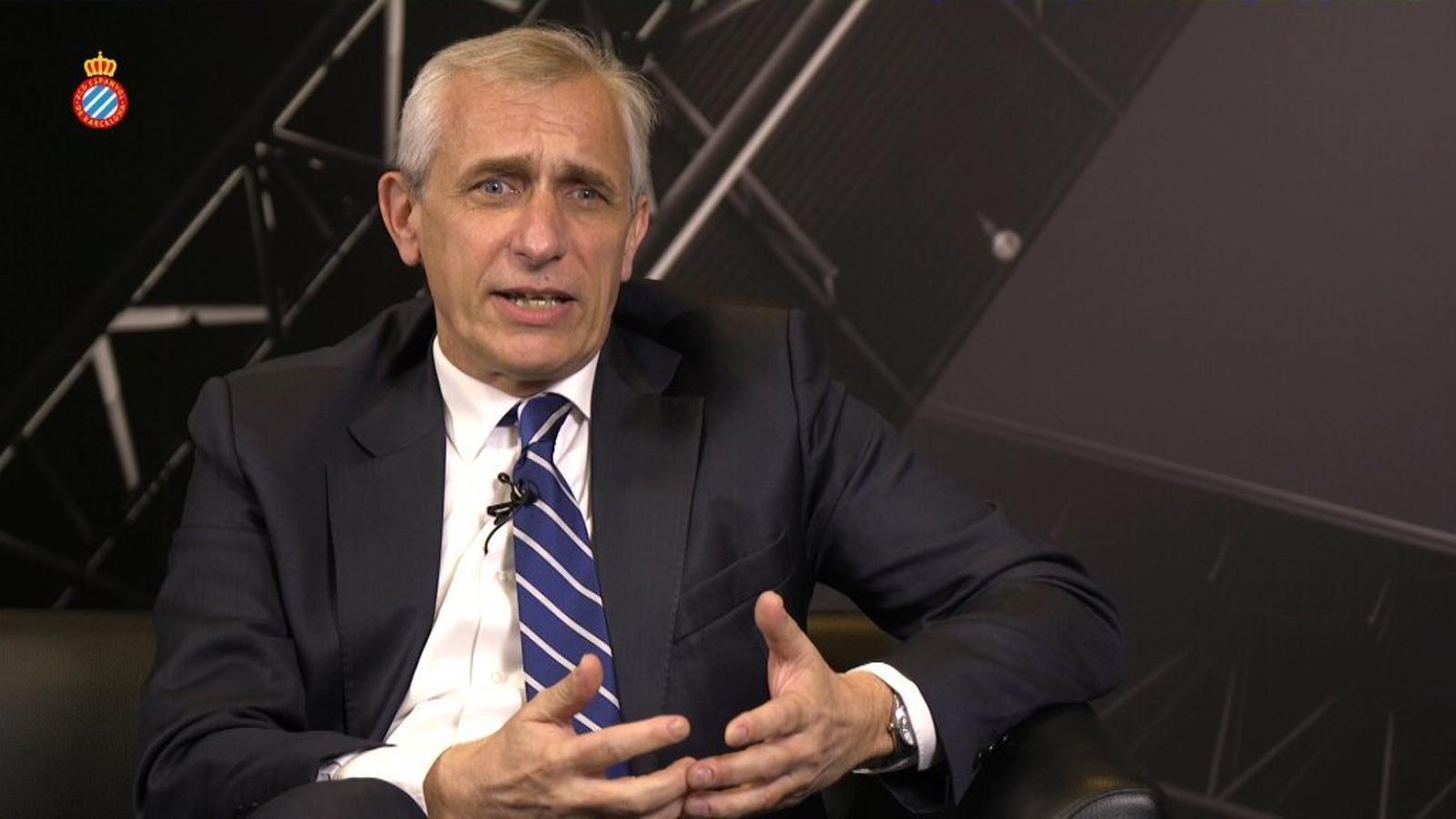 El vicepresident Carlos García Pont, durant l'entrevista amb 'TV3'