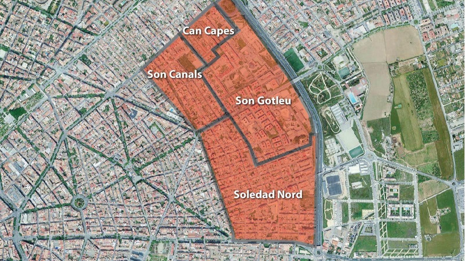 Aquestes són les zones de Palma afectades pel confinament del Govern