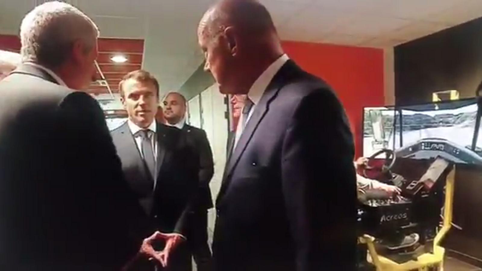 "Imatges de la ""relliscada"" del president Marcon"