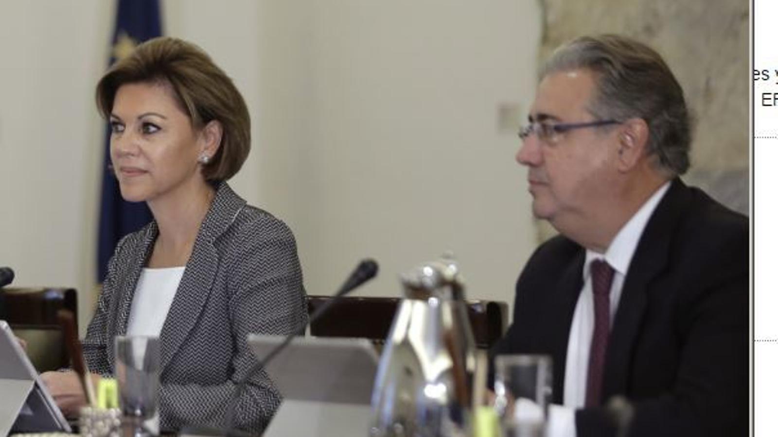 Els ministres de l'Interior, Juan Ignacio Zoido, i de Defensa, María Dolores de Cospedal