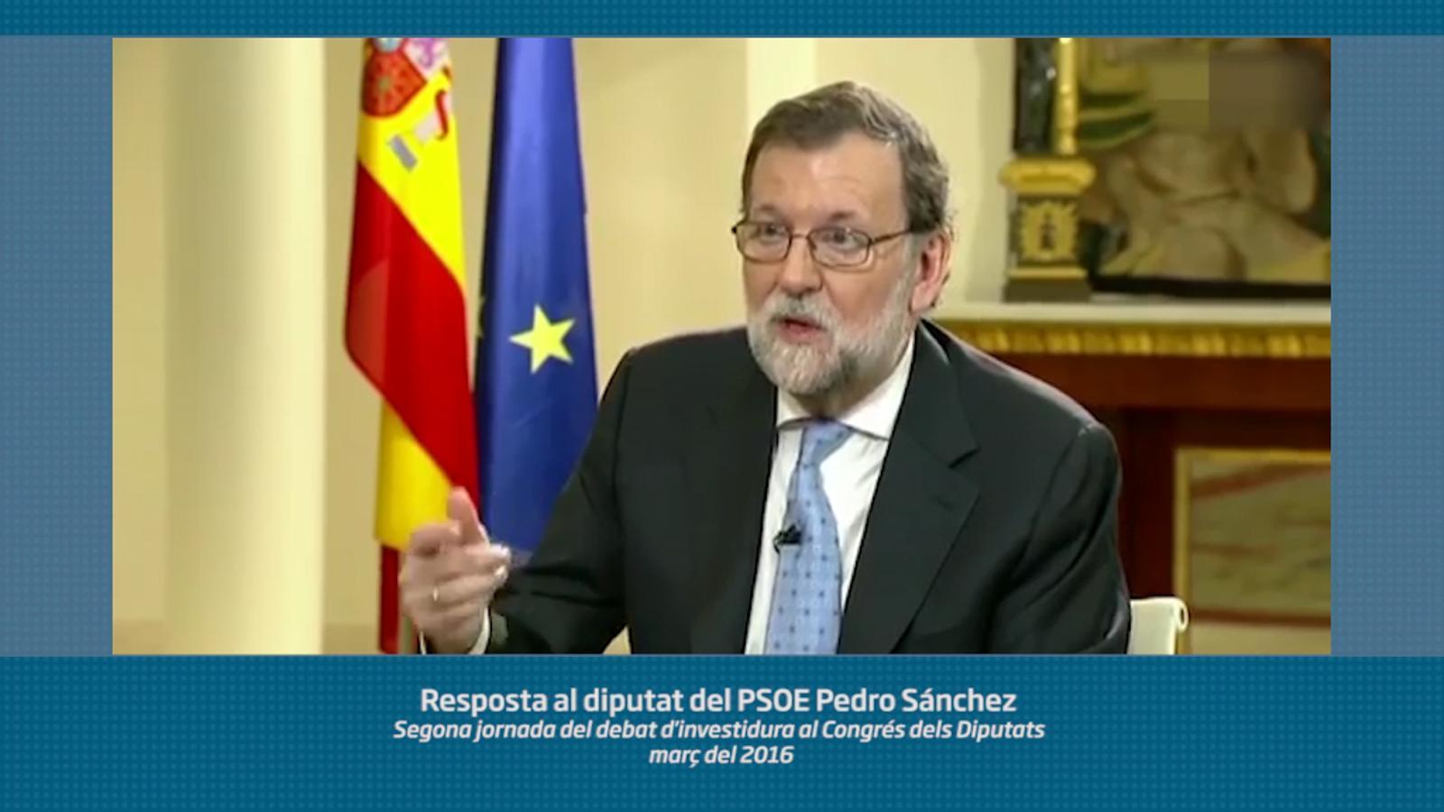 """""""Somos sentimientos y tenemos seres humanos"""". Actualitzem la llista de 'hits' de Rajoy"""