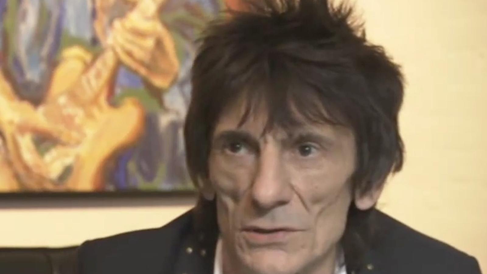 Ronnie Wood, de guitarrista dels 'Rolling' a pintor