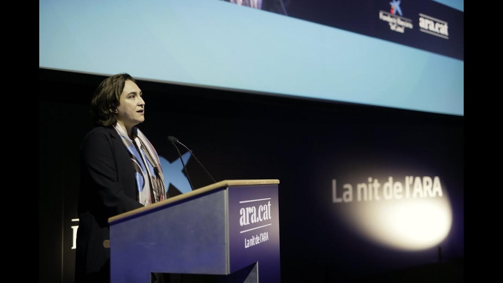 El discurs de l'alcaldessa Ada Colau a la nit de l'ARA