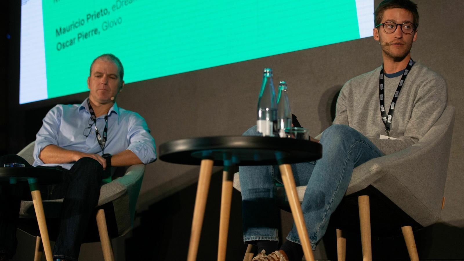 Mauricio Prieto i Oscar Pierre a l'escenari del Tech Spirit Barcelona