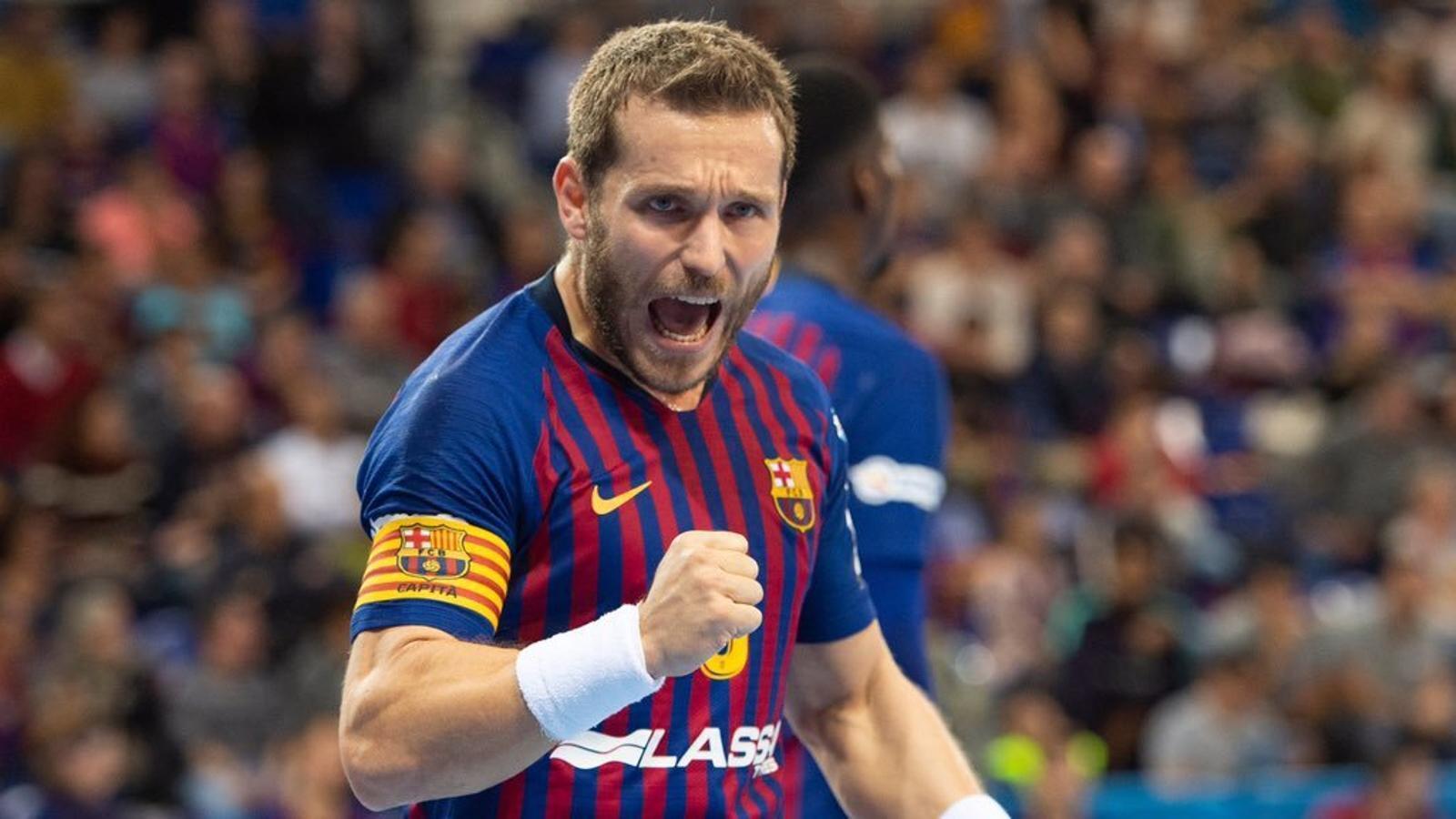 Víctor Tomás, el capità del Barça Lassa d'handbol
