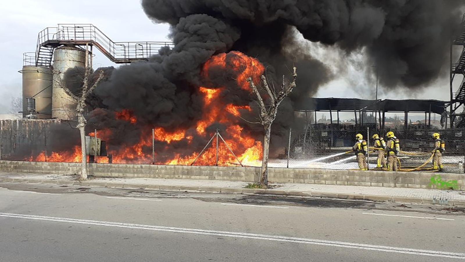La Generalitat ha sancionat dues vegades per infraccions ambientals l'empresa que ha cremat a Montornès