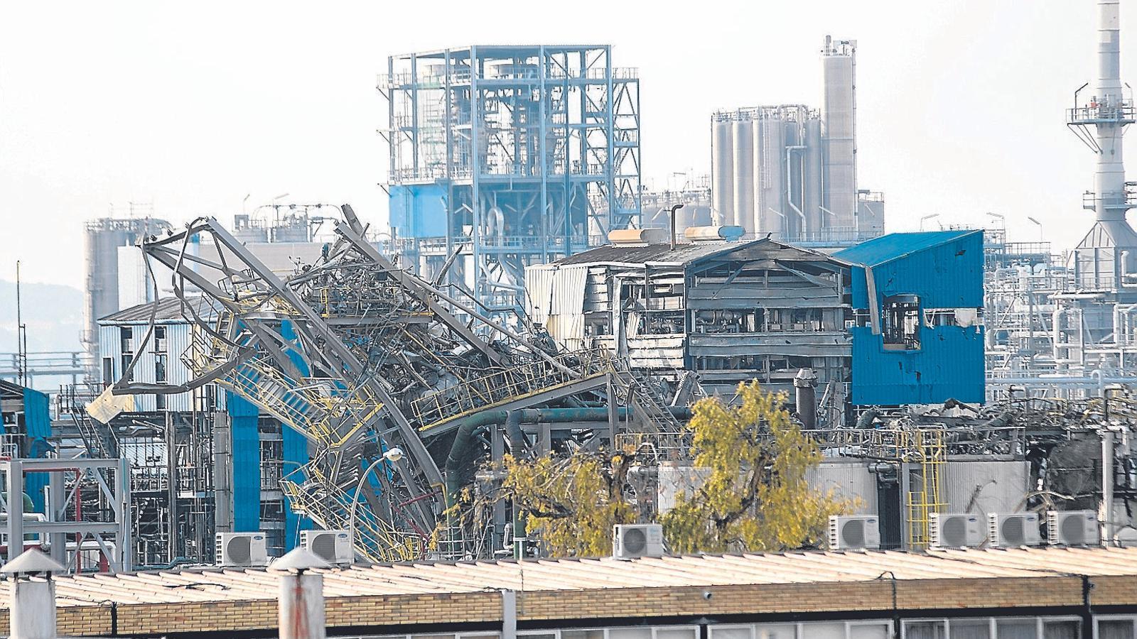 La producció del polígon d'Iqoxe, a mig gas