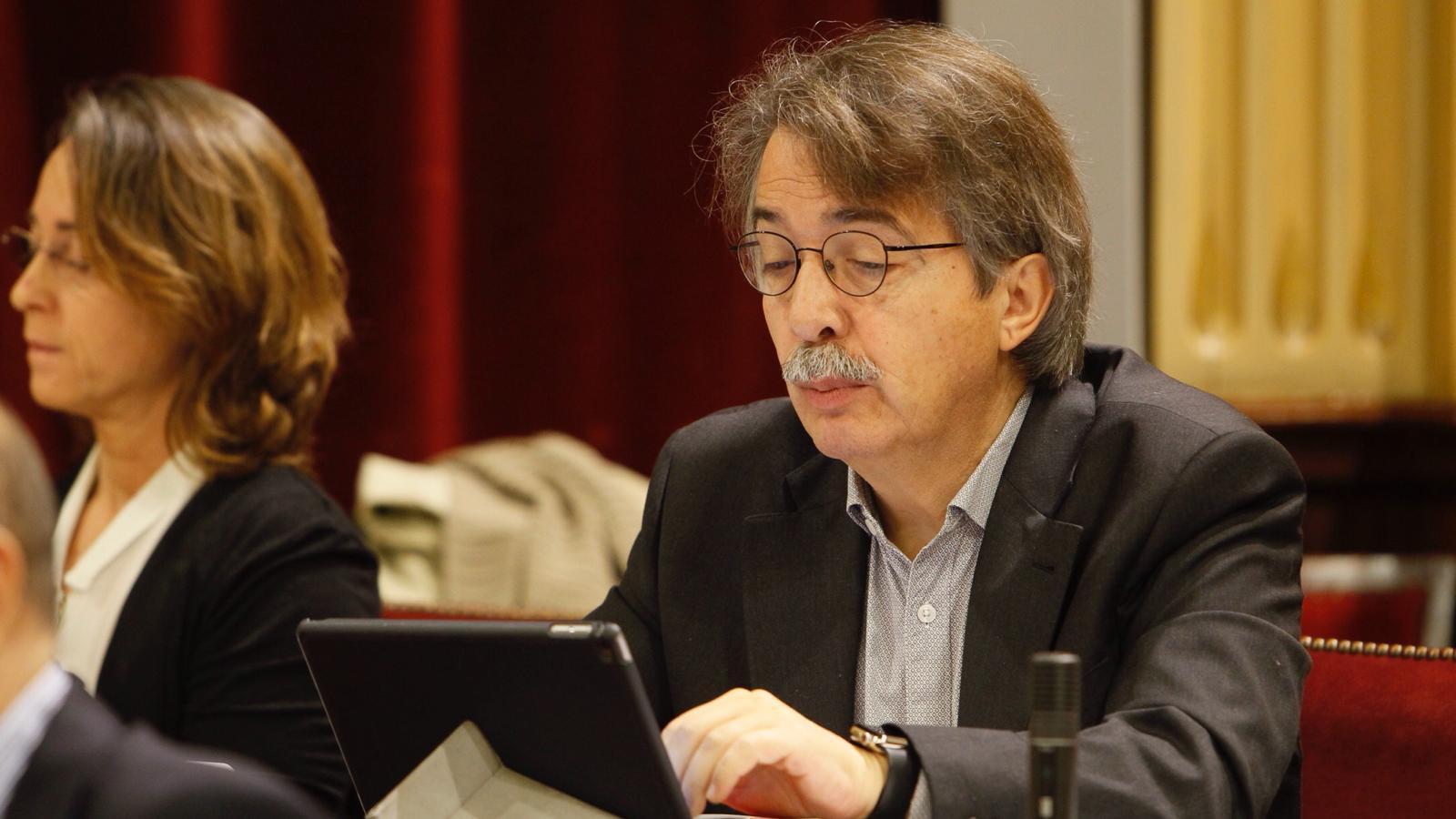 Els diputats de Ciutadans, Xavier Pericay i Olga Ballester, aquest dimarts al Parlament.