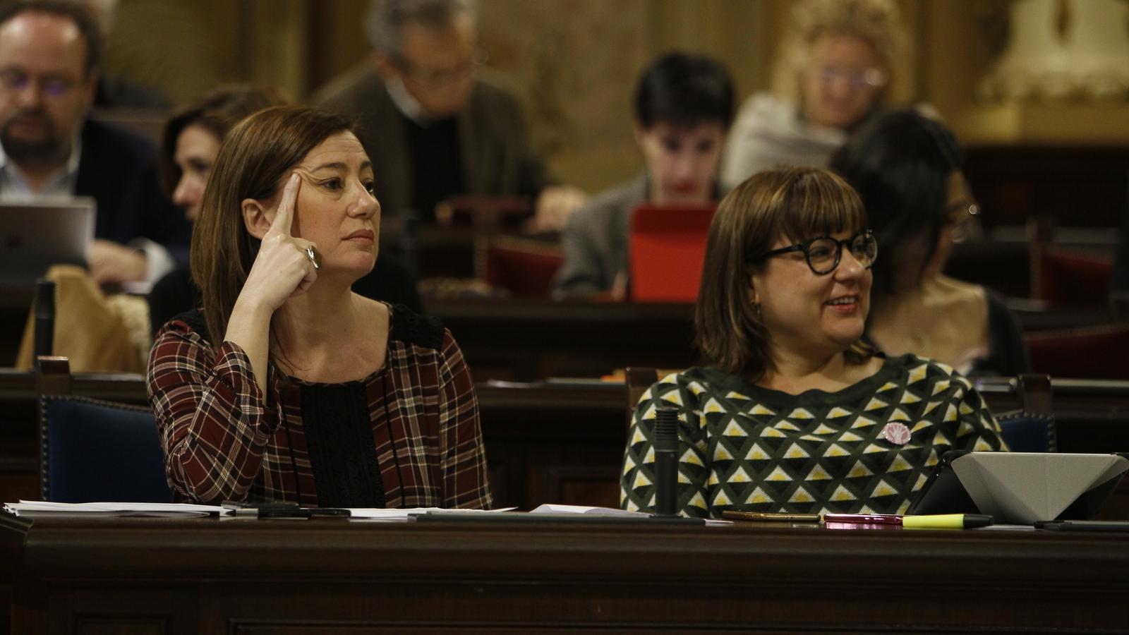 Armengol i Busquets al Parlament.