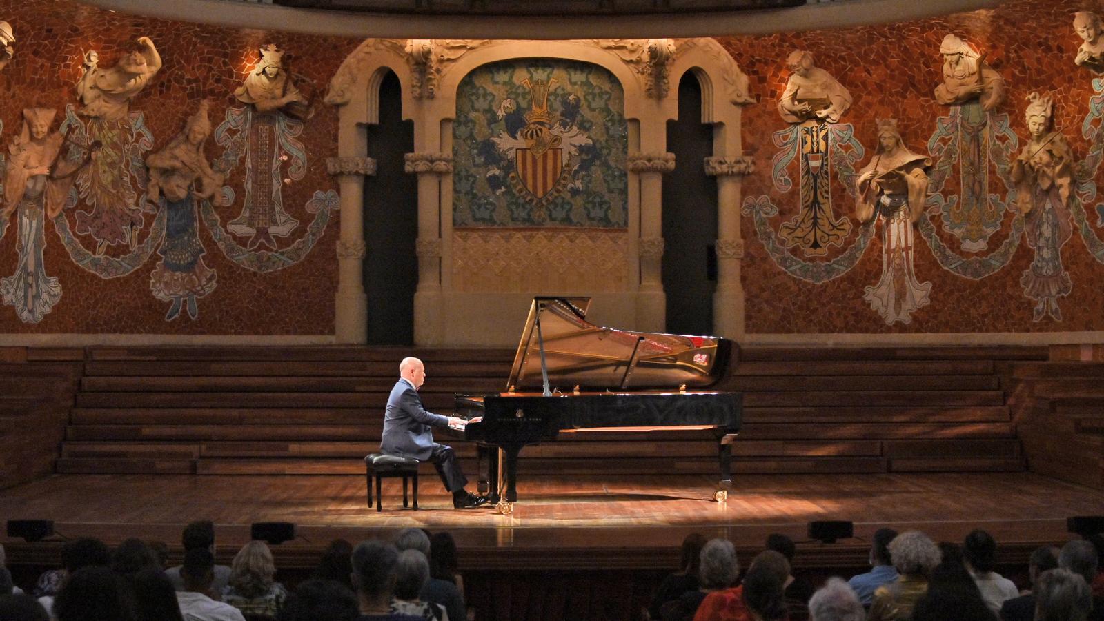 Albert Guinovart durant el concert de l'1 de juliol al Palau de la Música