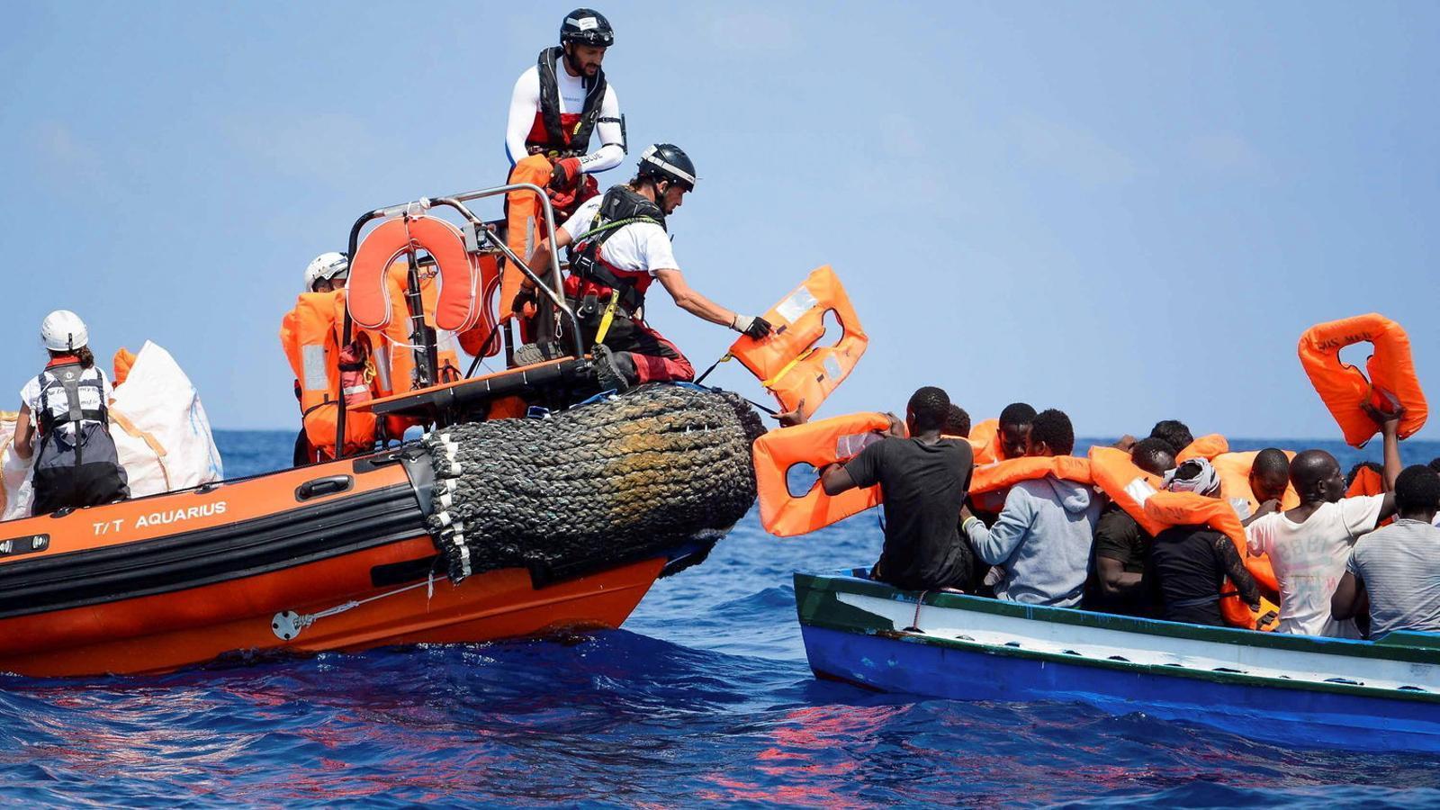 Imatge d'arxiu del rescat dels refugiats