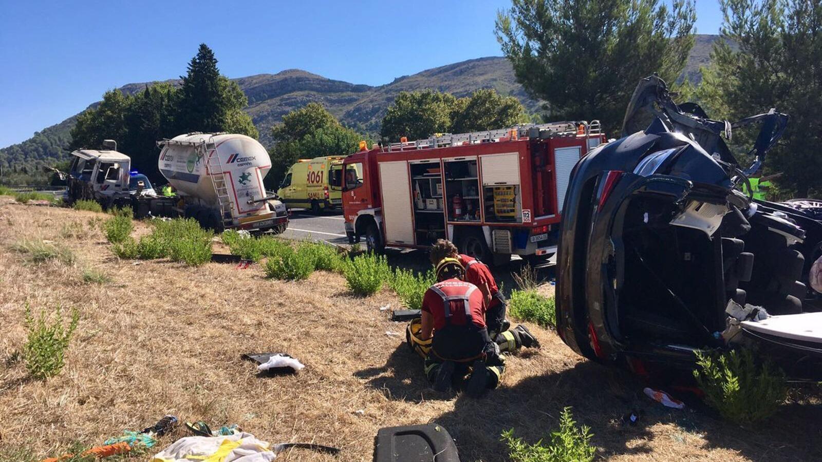 Passa a disposició judicial el conductor del camió que ha causat tres morts a la carretera d'Alcúdia