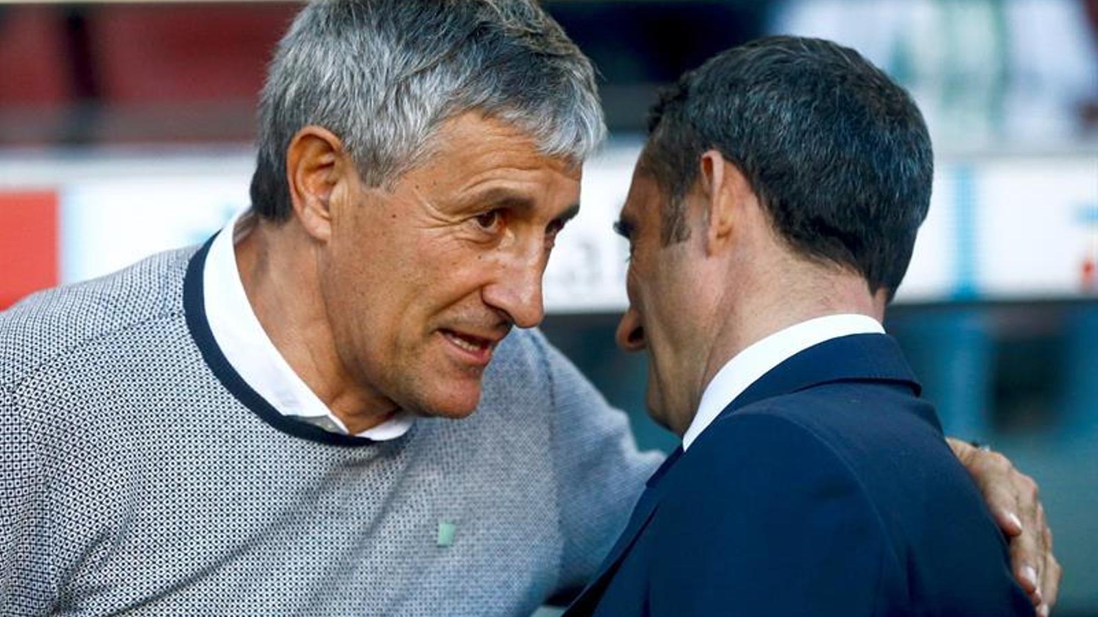 Quique Setién i Ernesto Valverde