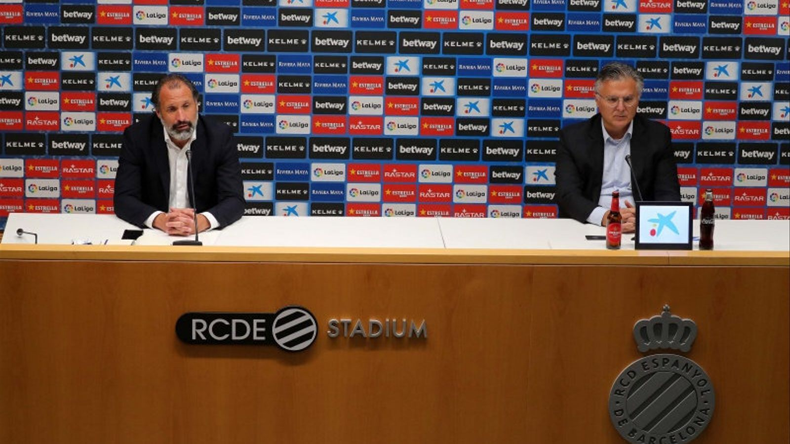 Rufete i José María Durán durant la roda de premsa.