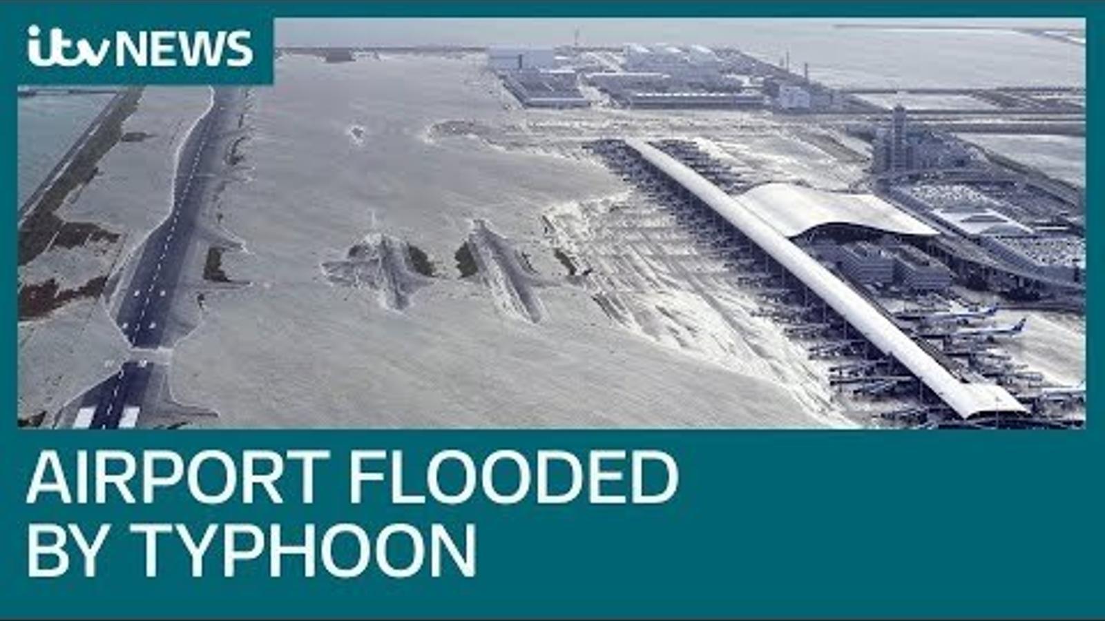 Arriba al Japó el 'Jebi', el pitjor tifó dels últims 25 anys