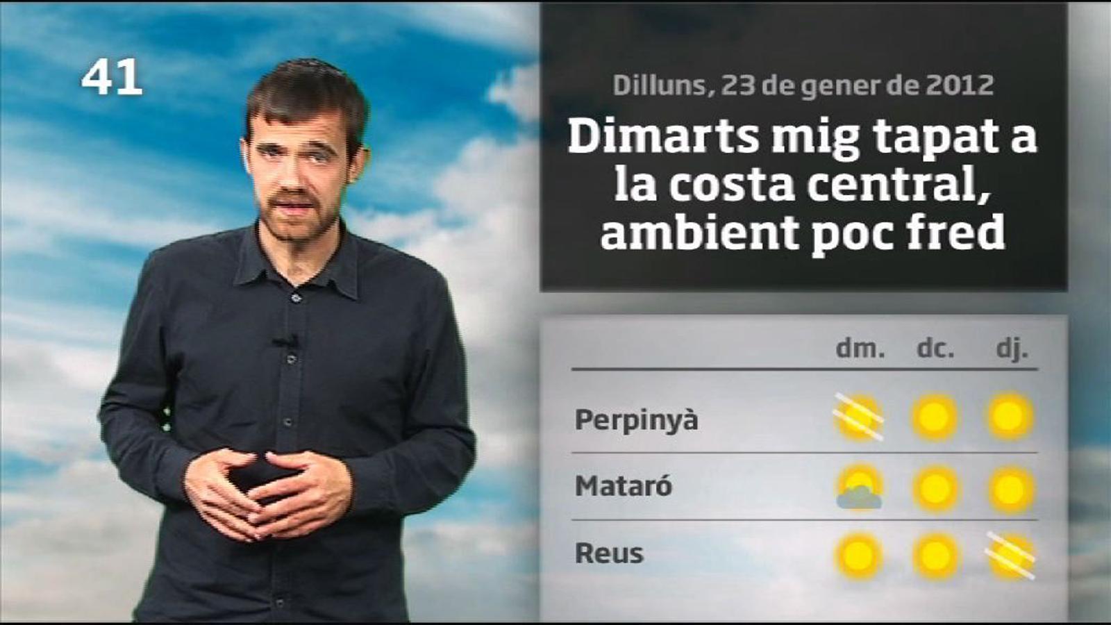 La méteo en 1 minut: més fred a partir de dijous (24/01/2012)