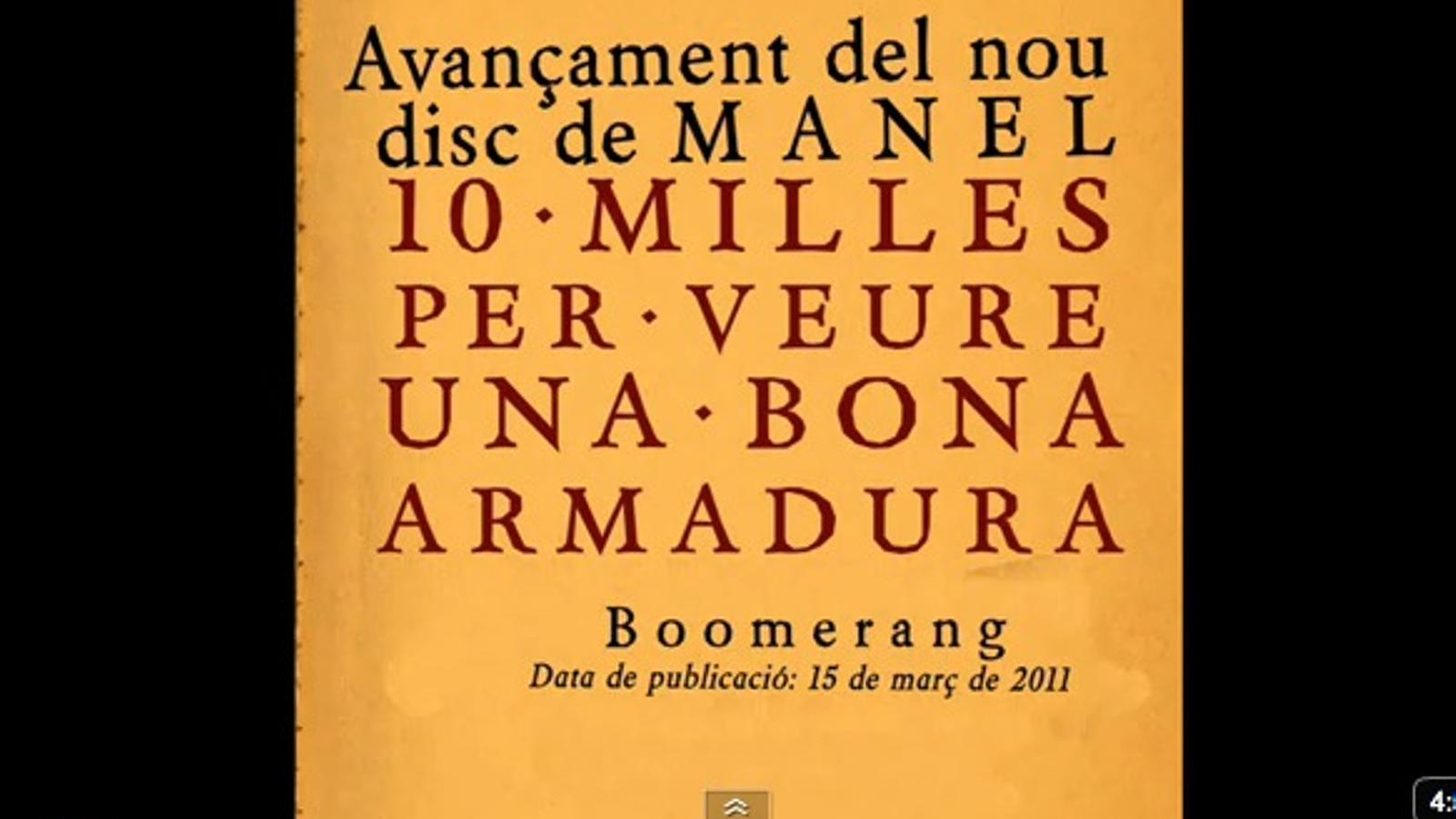 'Boomerang', tema d'avançament del nou disc dels Manel