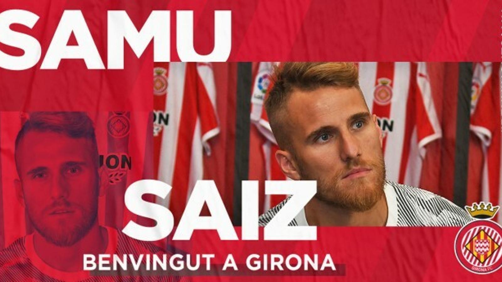 El Girona es reforça amb el talent de Samu Saiz