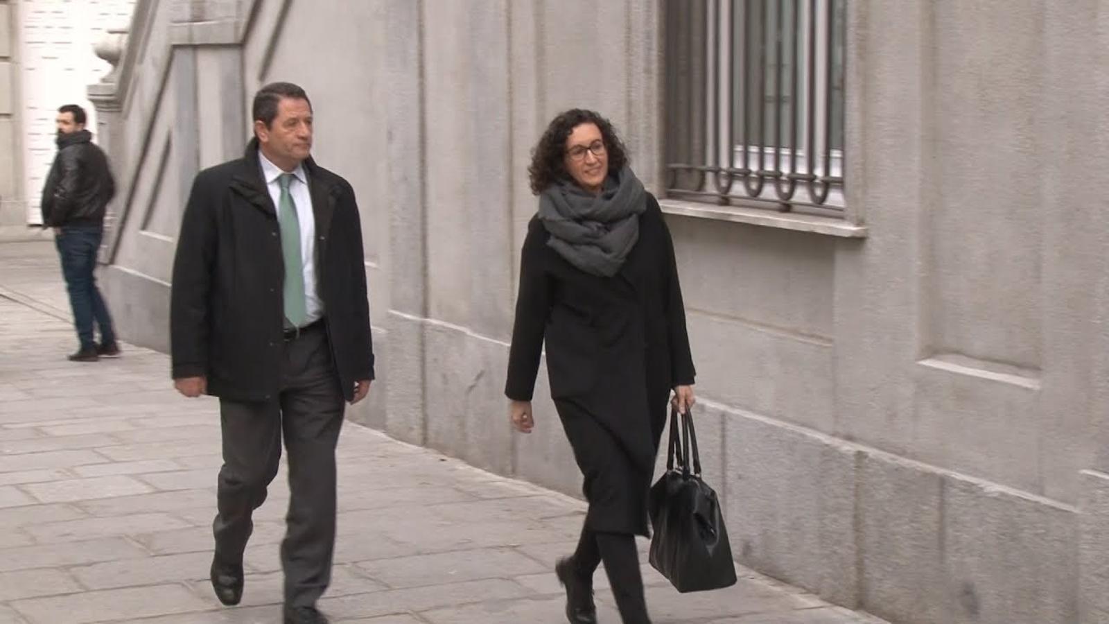 Marta Rovira arriba a declarar al Tribunal Suprem