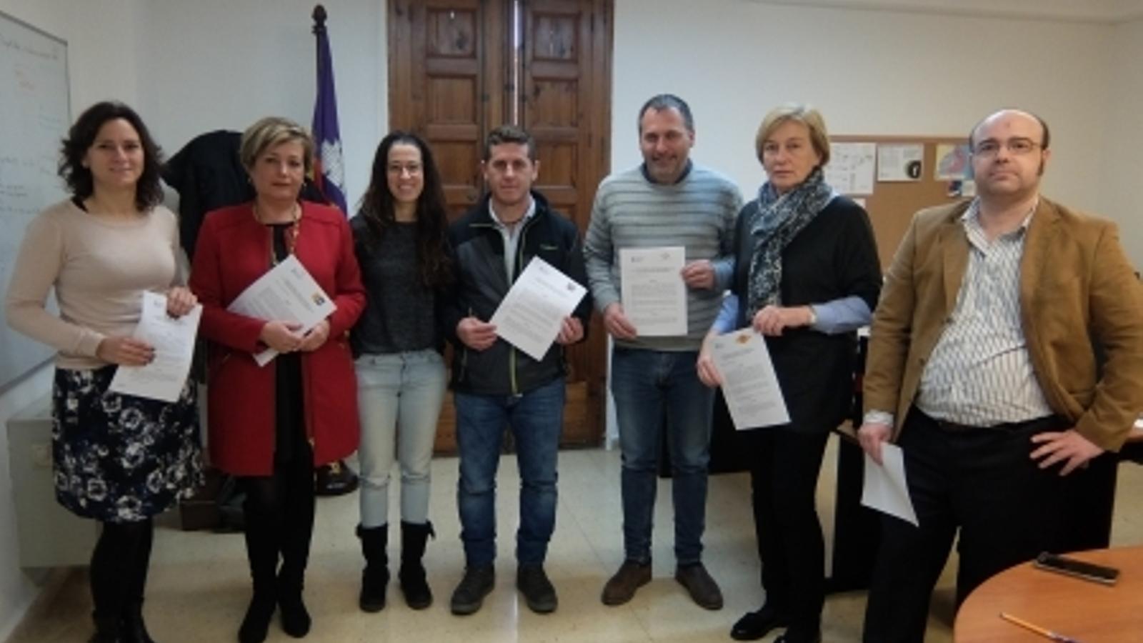 Aquest dijous s'ha signat conveni amb cinc municipis