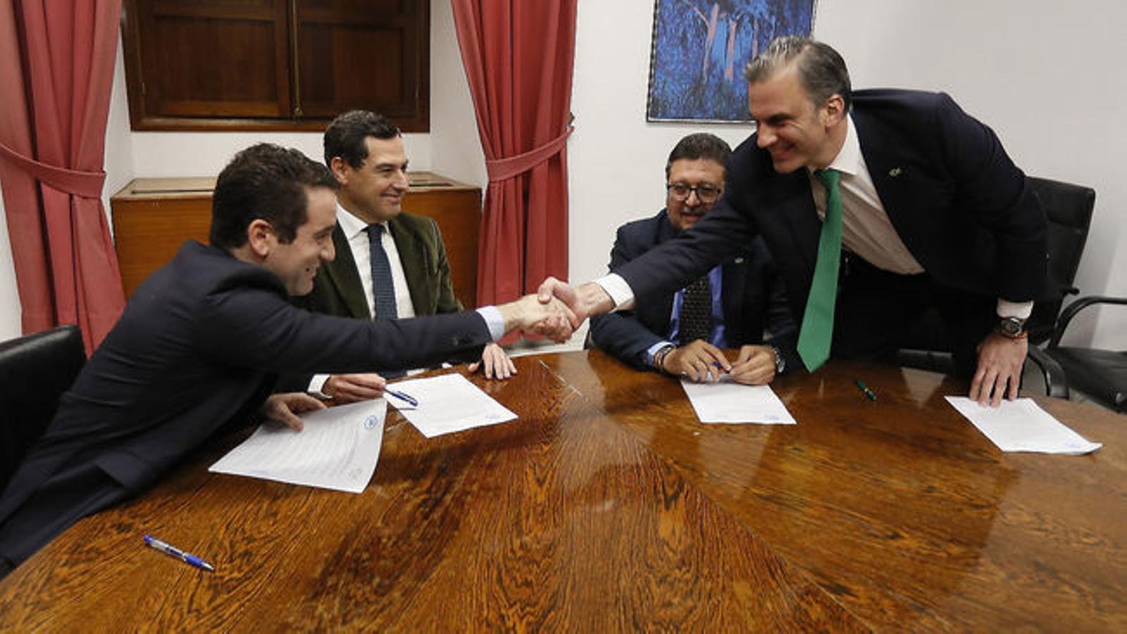 El PP i Cs governaran Andalusia amb el suport dels ultres de Vox