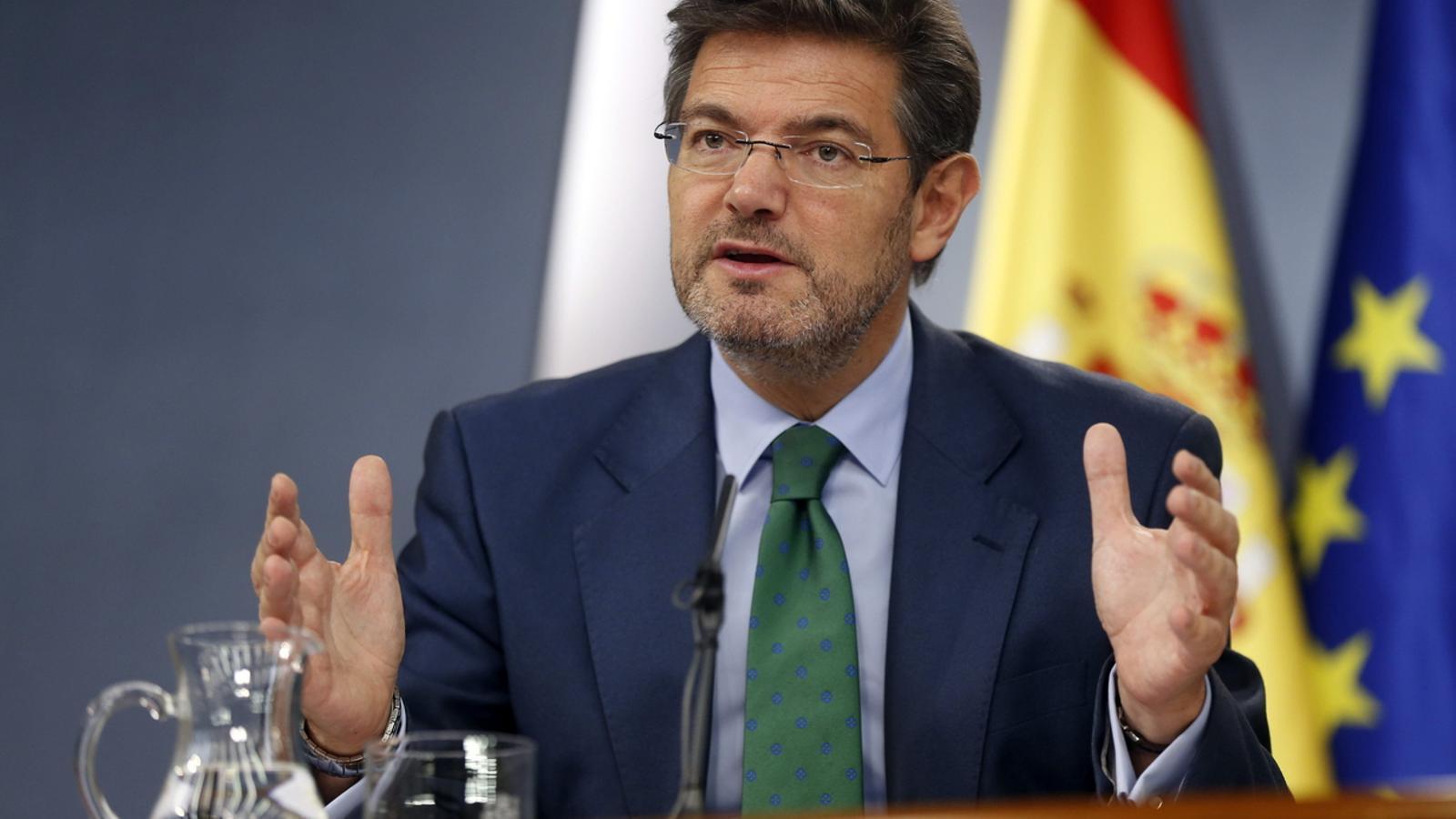 El ministre espanyol de Justícia, Rafael Catalá, avui després del consell de ministres / EFE