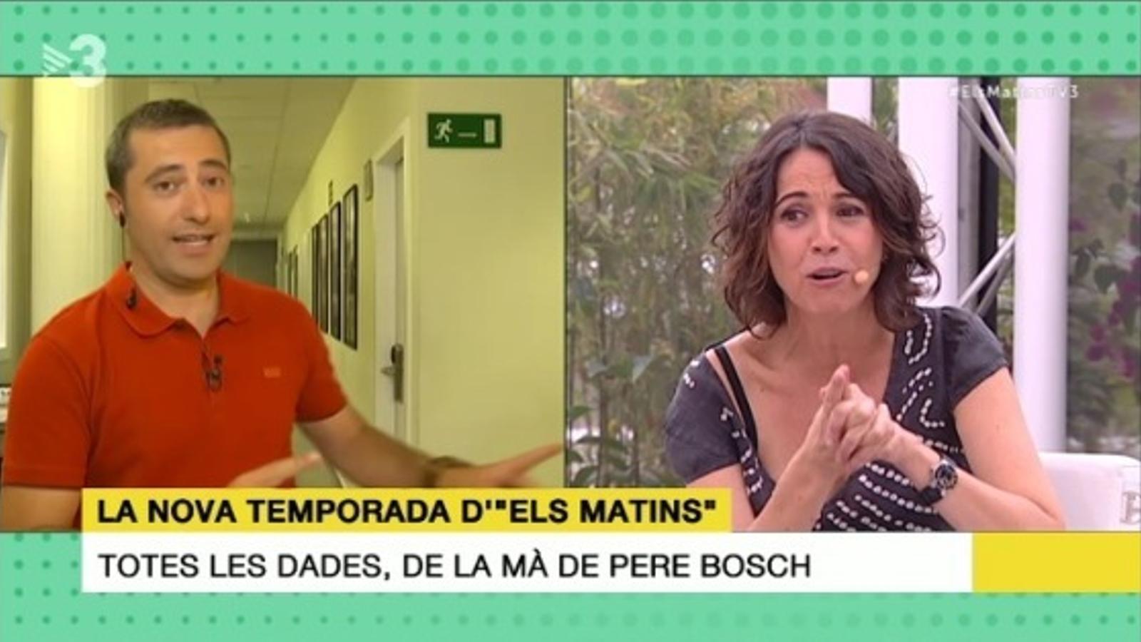 Lídia Heredia i Pere Bosch expliquen com serà el nou format d''Els matins'