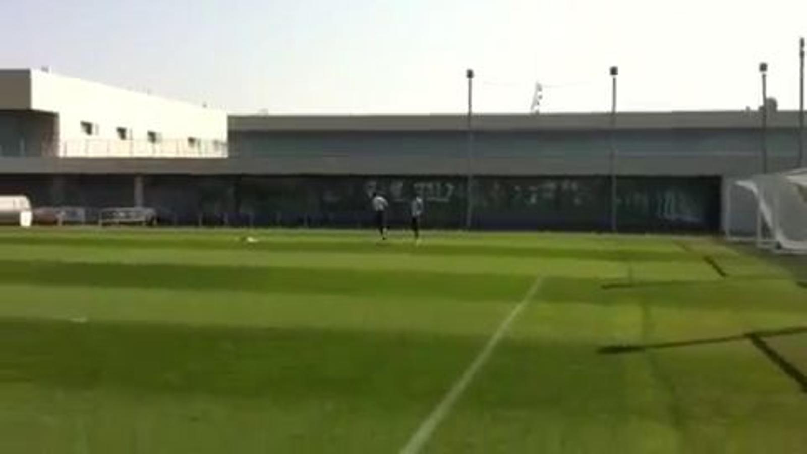 Un divertit Sergio Ramos grava en vídeo una cursa entre Casillas i Arbeloa