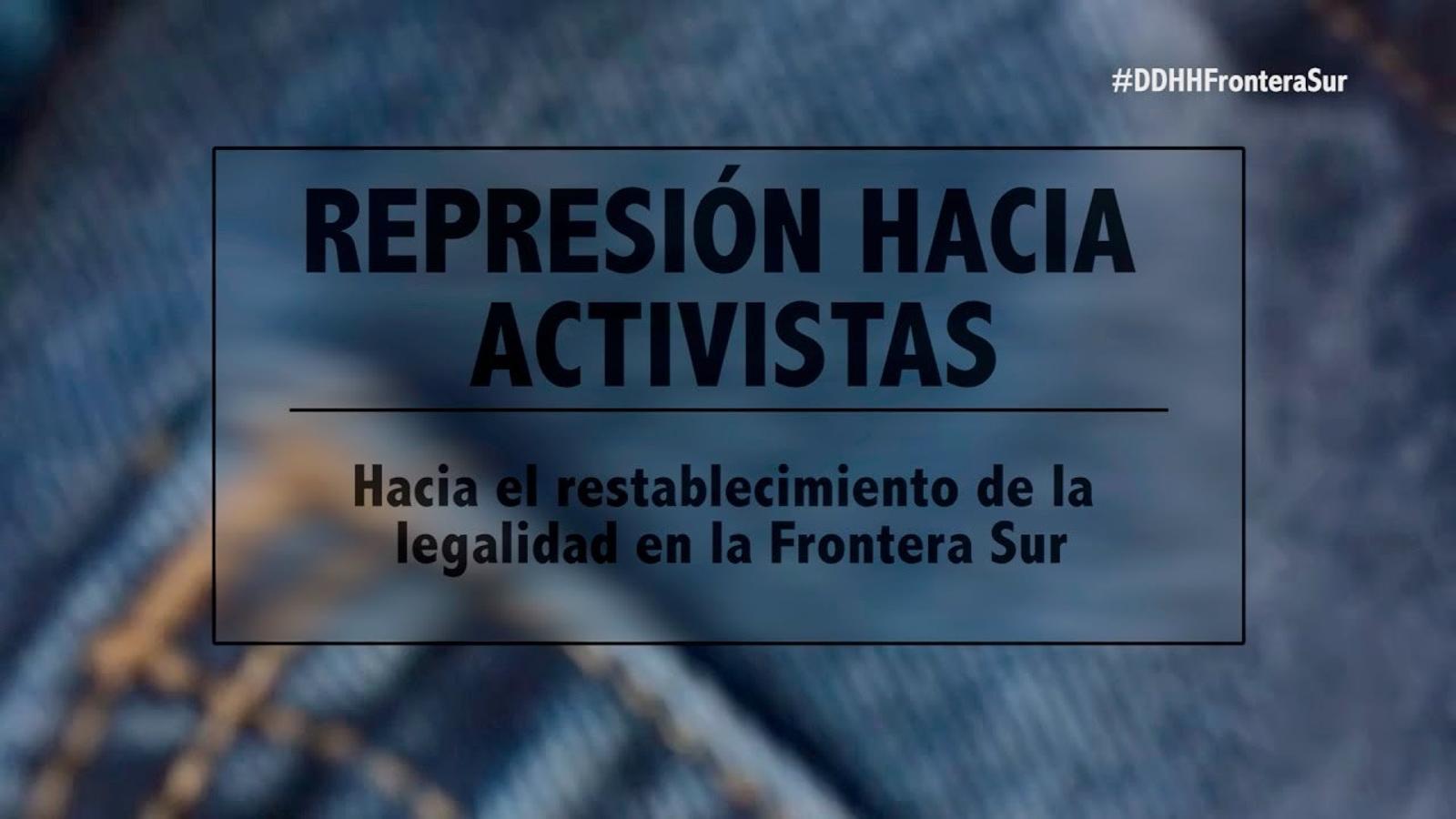 Repressió als activistes