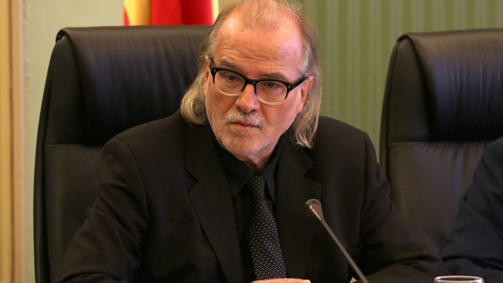 Andreu Manresa durant la comissió.
