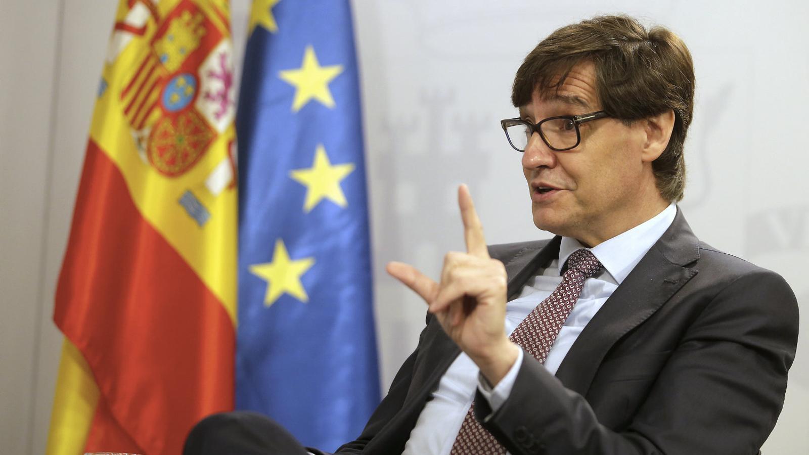 """Salvador Illa: """"La pandèmia  no ha dissolt el problema català, continua existint"""""""