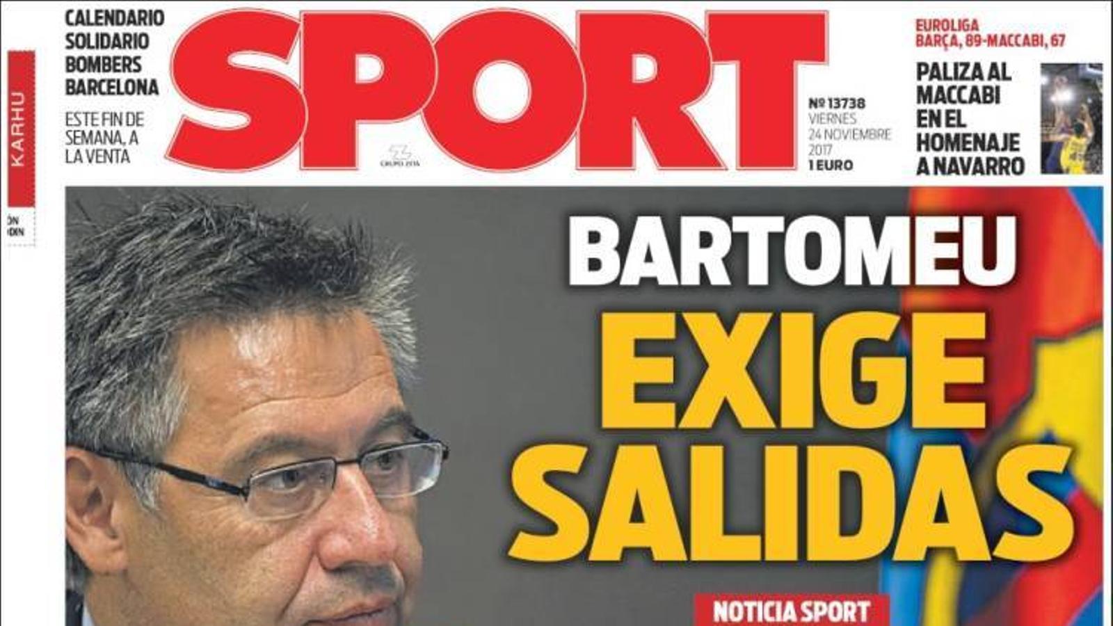 Portada 24 novembre Sport