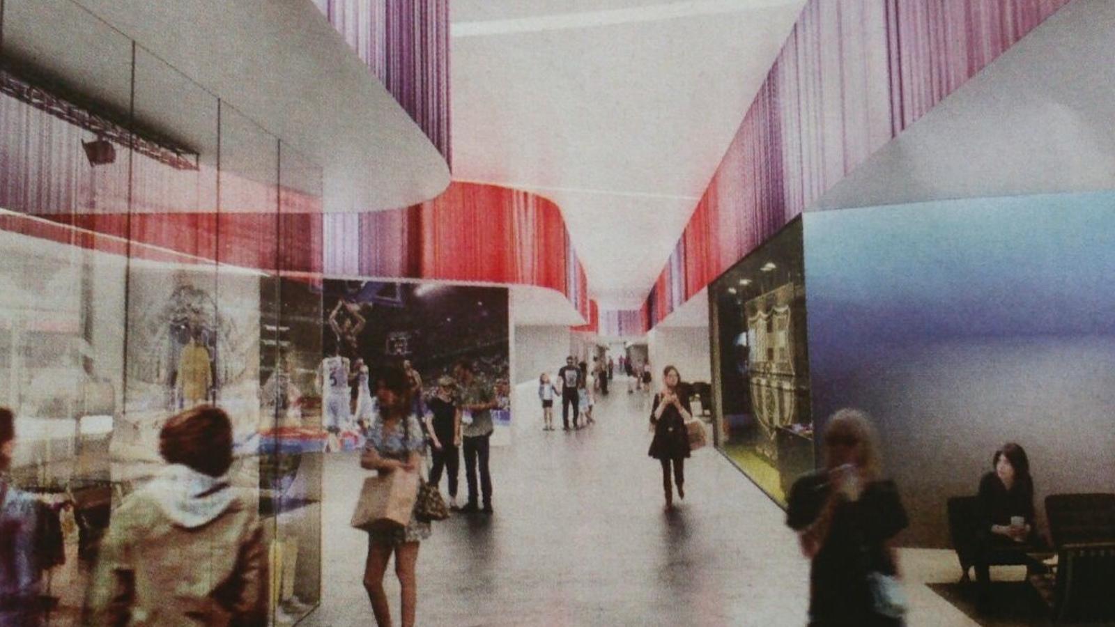 Un bulevard unir el nou palau blaugrana i el camp nou for Puerta 0 palau blaugrana