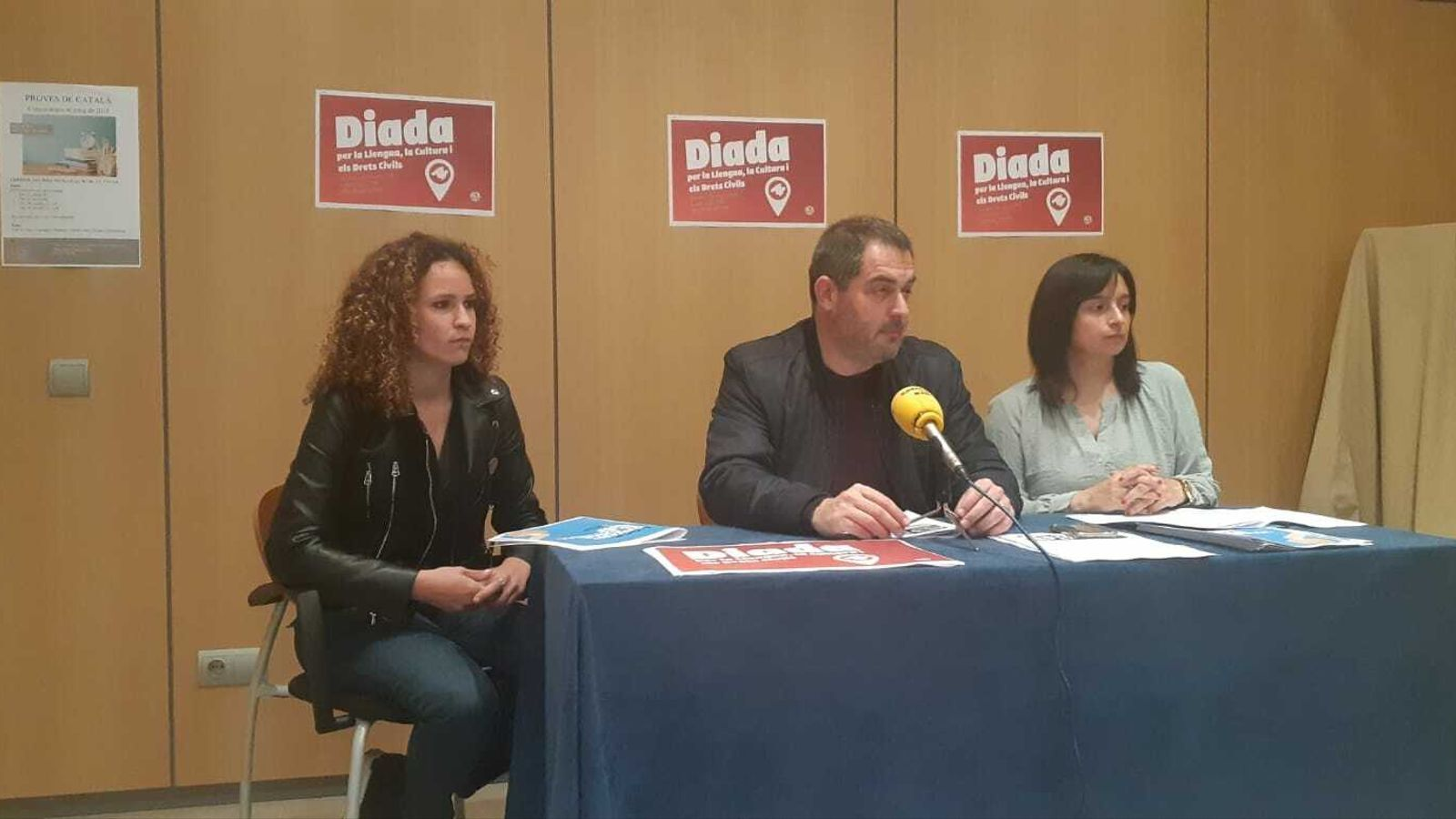Imatge de la roda de premsa de presentació de la Diada a Can Alcover