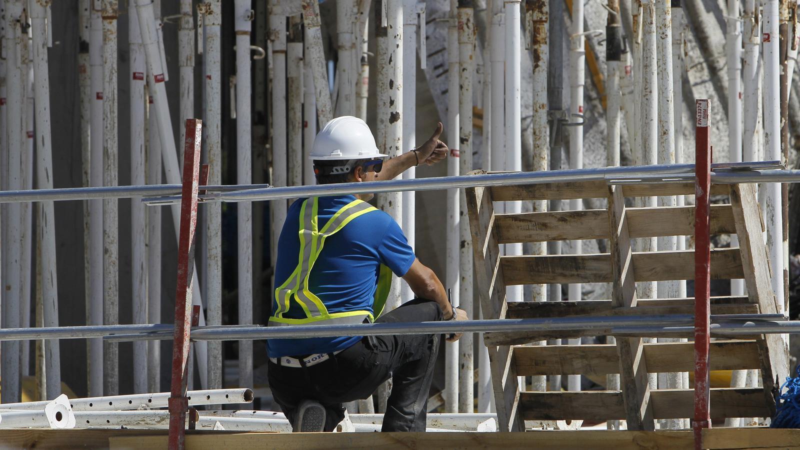 La inversió en construcció va créixer un 15% l'any passat
