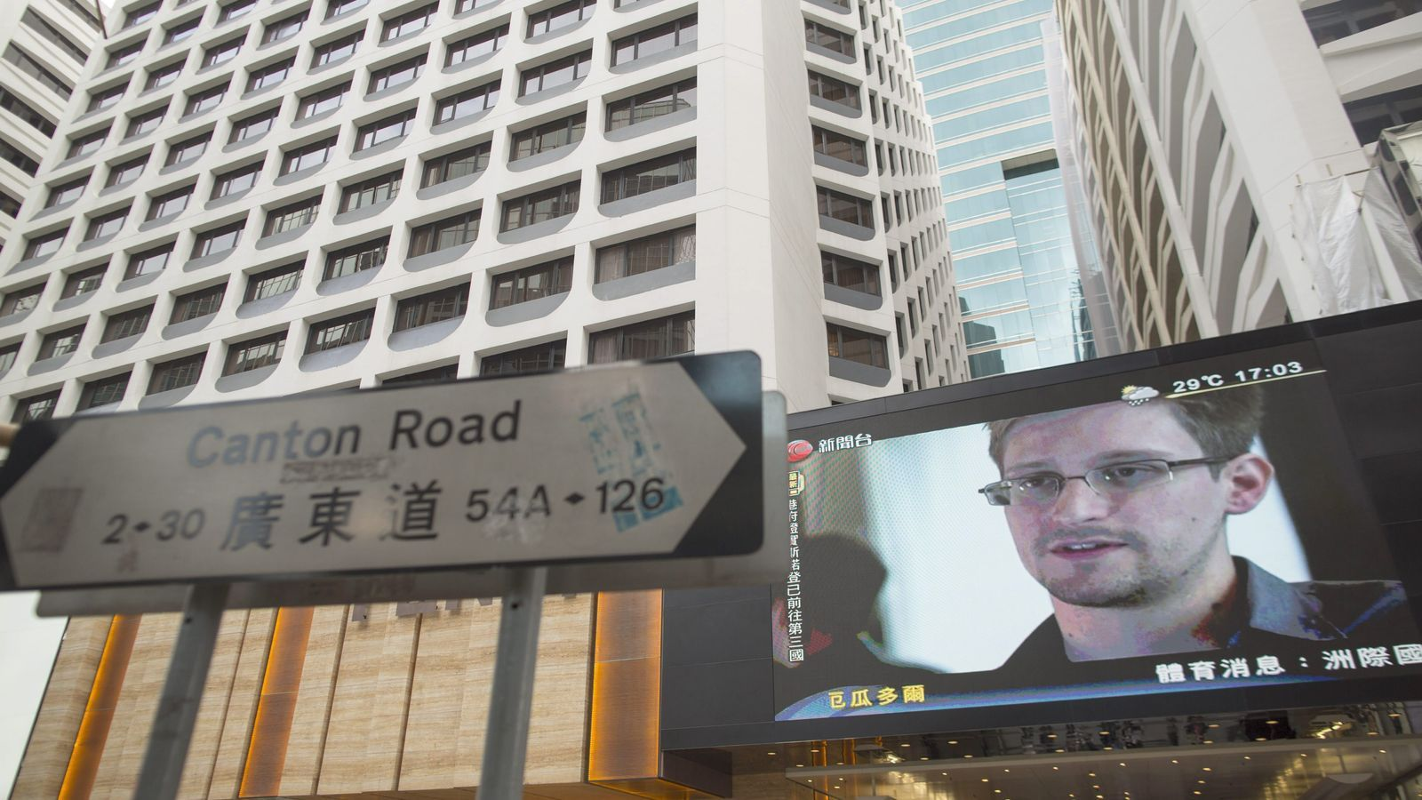 L'efígie d'Edward Snowden, omnipresent en les últimes setmanes a Hong Kong