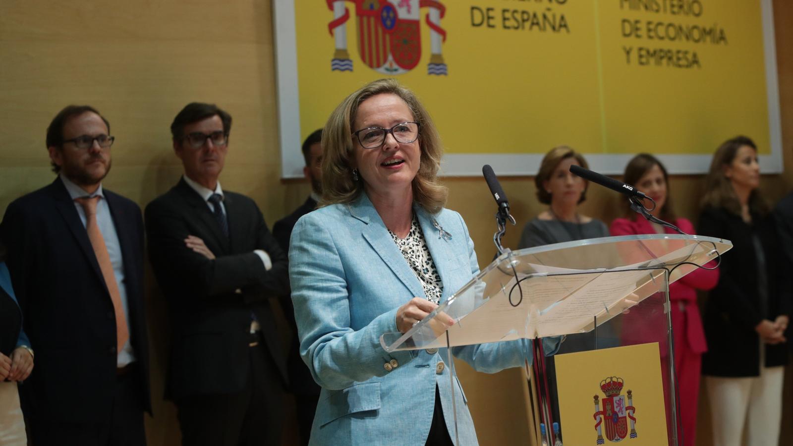 La ministra d'Economia, Nadia Calviño.