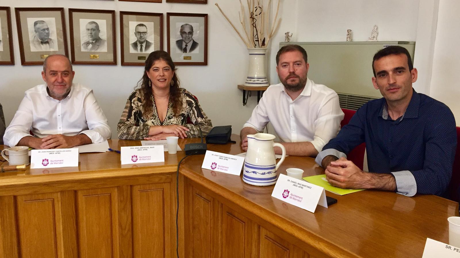 Grup de MÉS Marratxí, que assumirà les noves àrees creades.