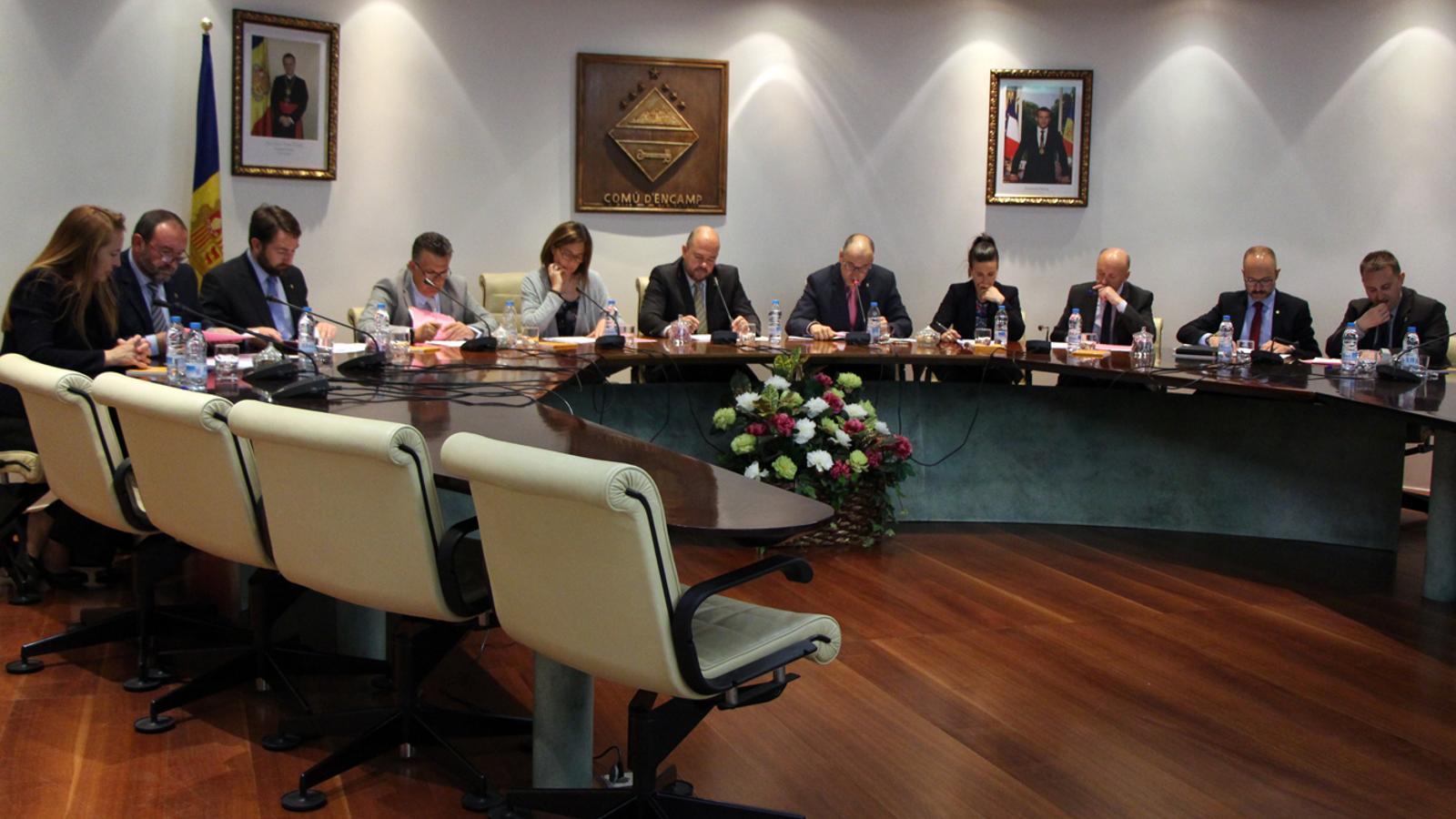 Sessió extrahordinària del consell de comú d'Encamp, aquest dijous. / T. N. (ANA)