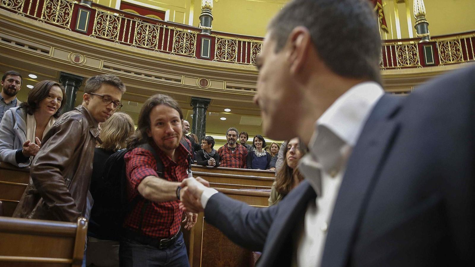 Iglesias i Sánchez han coincidit molt al Congrés, però no han pogut pactar fora.