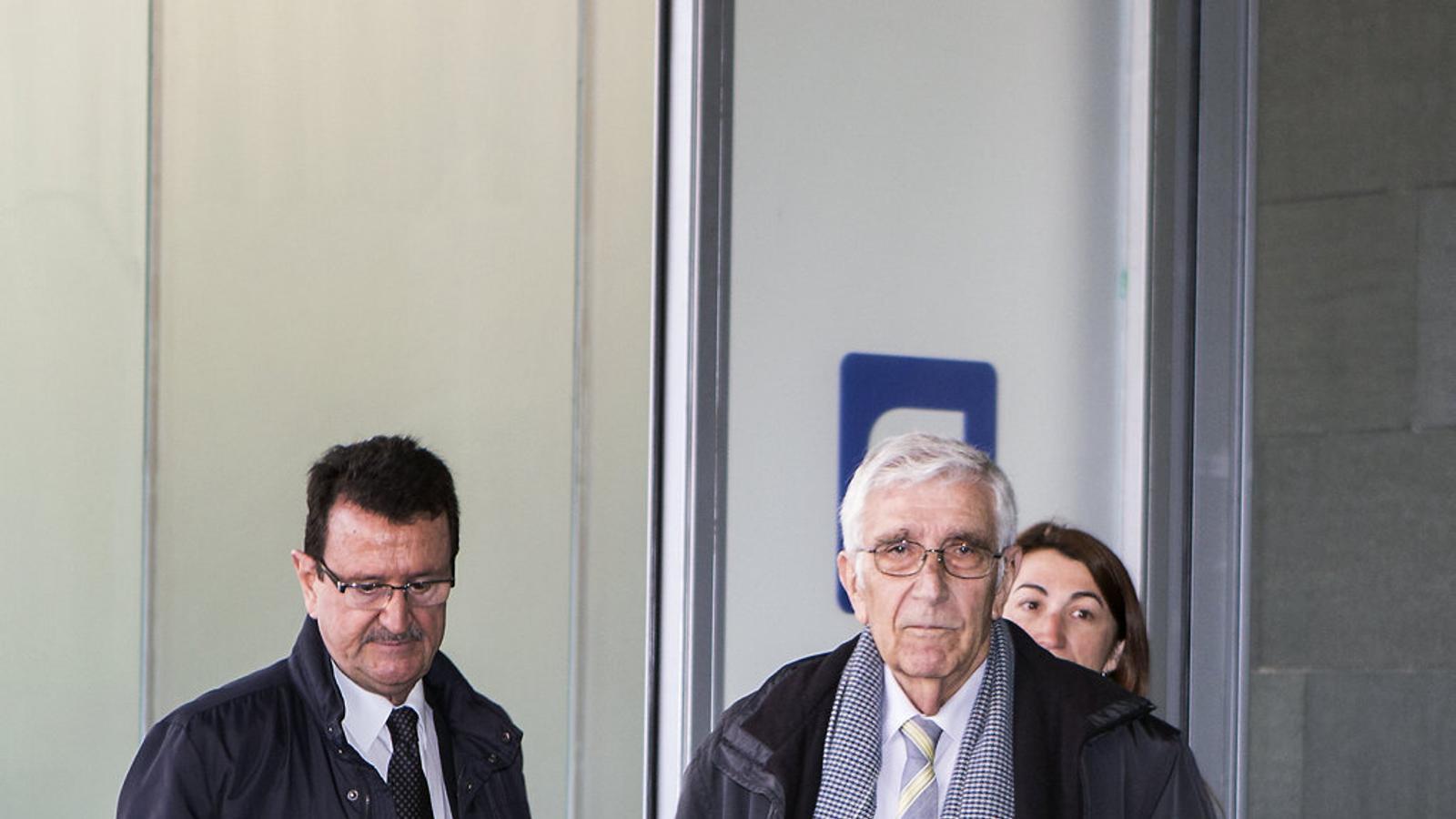 L'extresorer de CDC Daniel Osàcar arribant a la Ciutat de la Justícia el dia que hi va declarar.