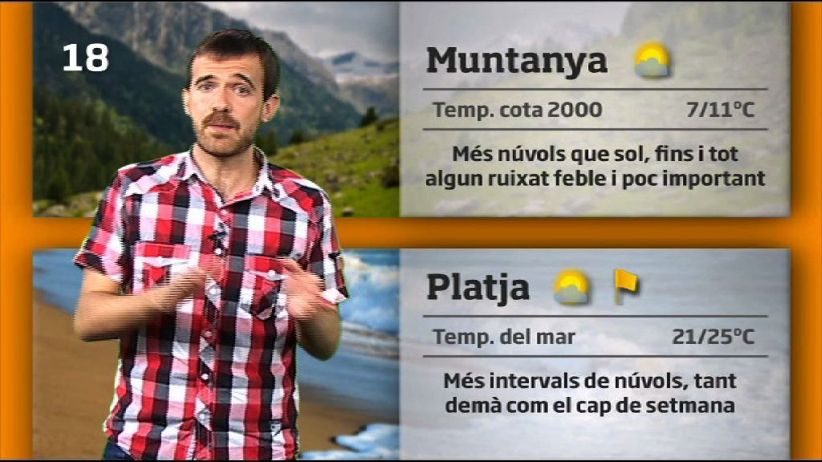 La méteo en 1 minut: més núvols i poca calor (20/07/2011)