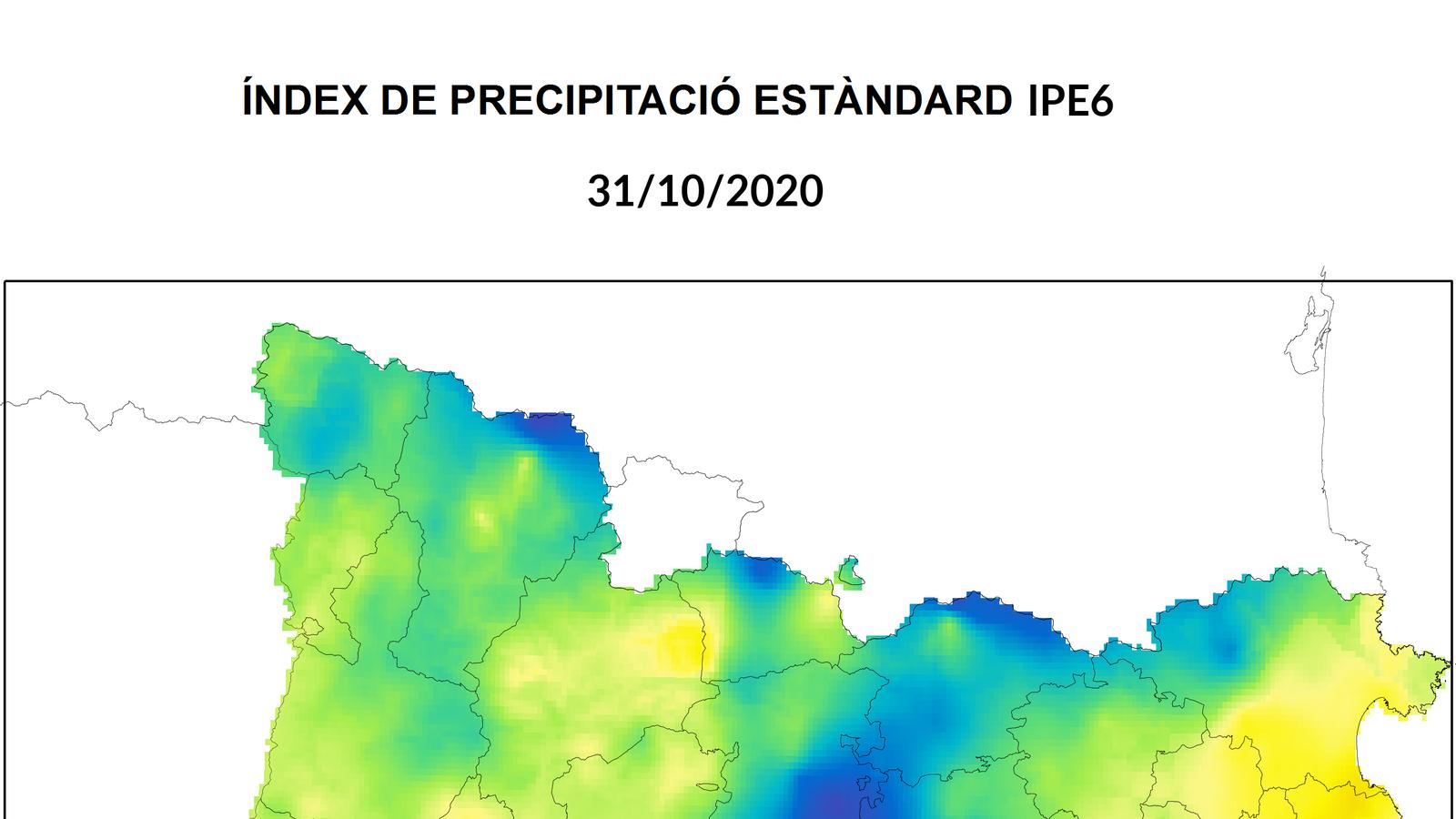 La segona meitat del 2020 està sent molt seca en bona part del territori
