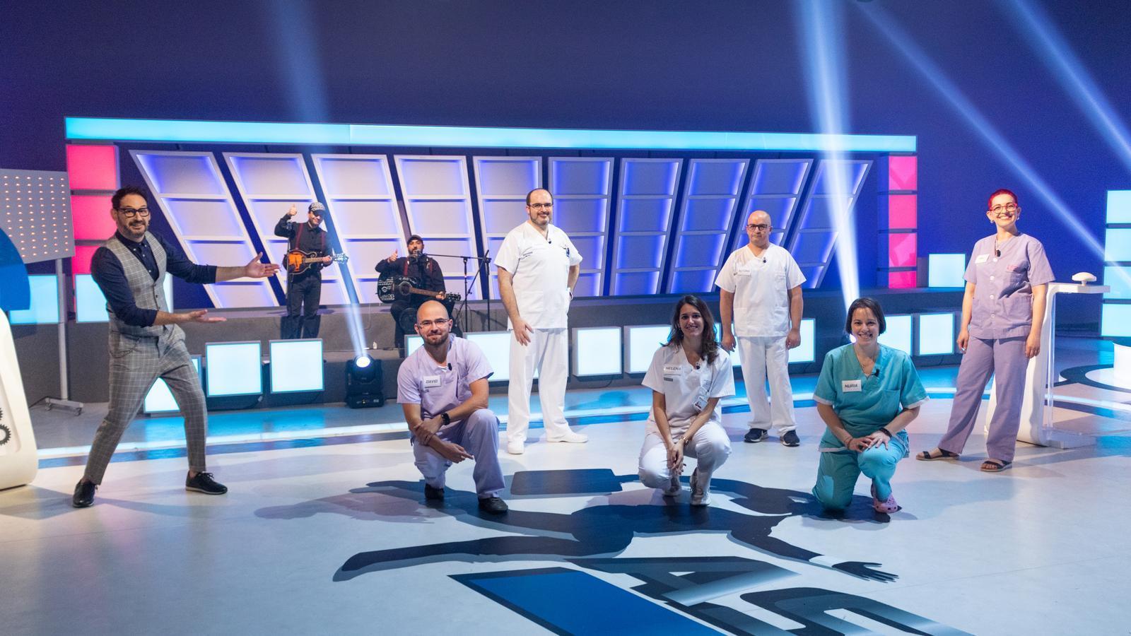 Un moment de l'edició especial del programa 'Atrapa'm si pots' dedicada als treballadors sanitaris