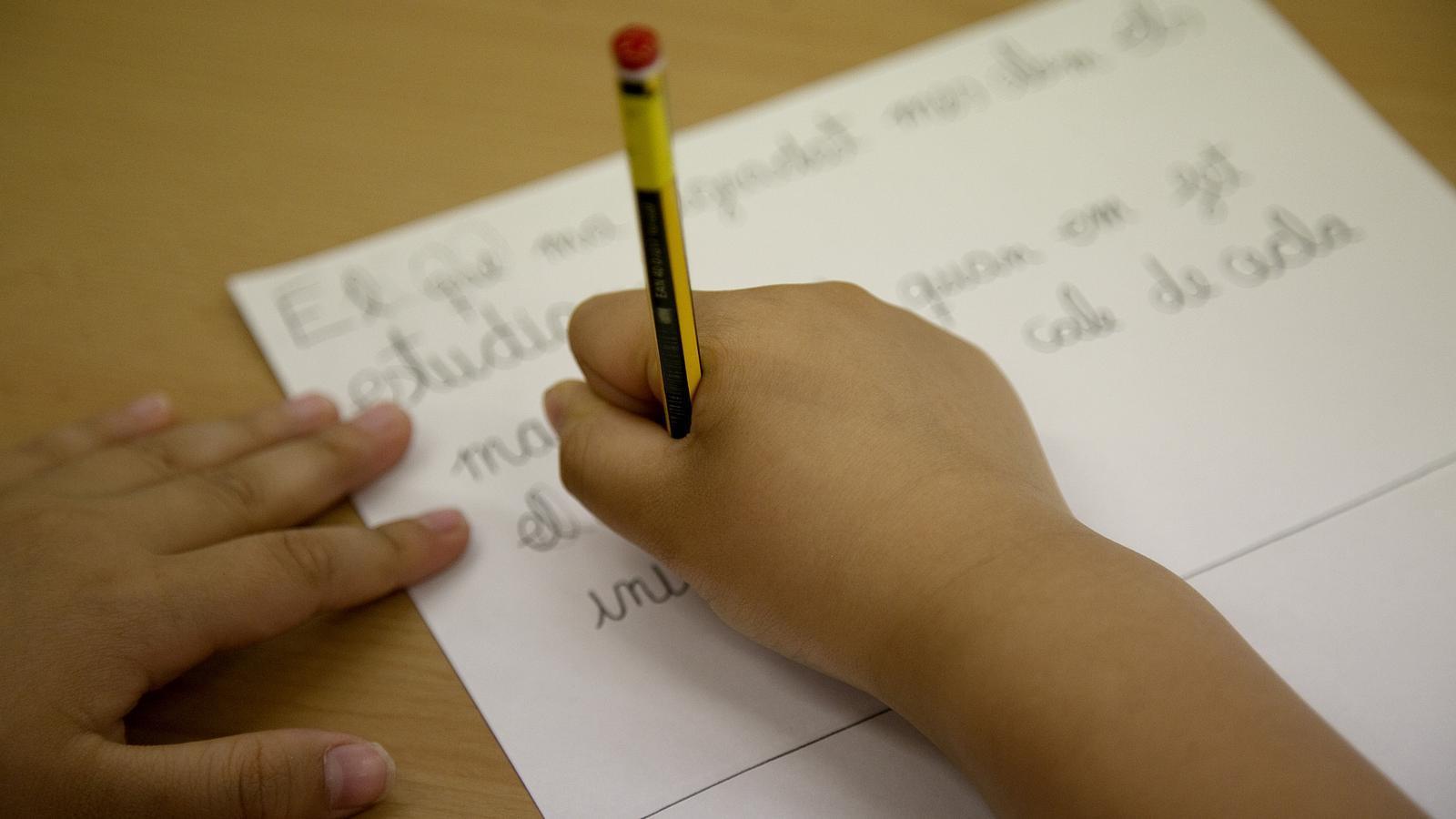 Uns pares acusen una mestra de Terrassa de pegar a la seva filla a classe per haver pintat una bandera d'Espanya