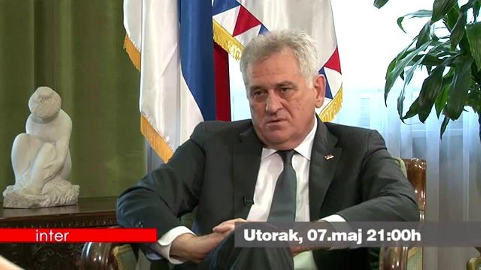 Tràiler de l'entrevista en què Tomislav Nikolic demana disculpes per la matança de Srebrenica