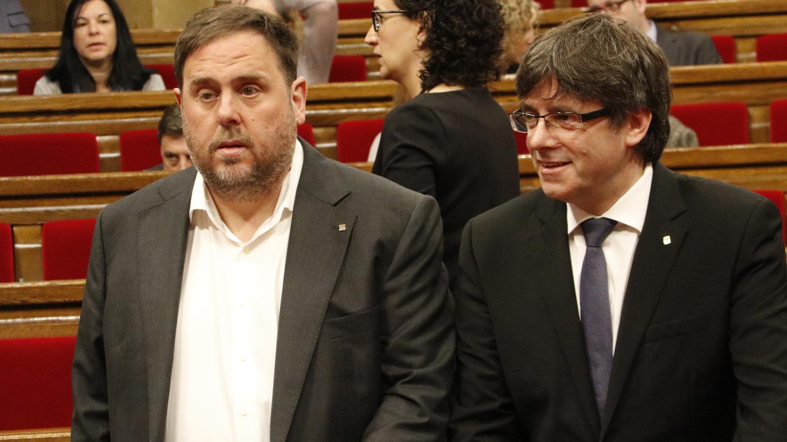 """Puigdemont: """"Només seria candidat a les europees com a número 2 d'Oriol Junqueras"""""""