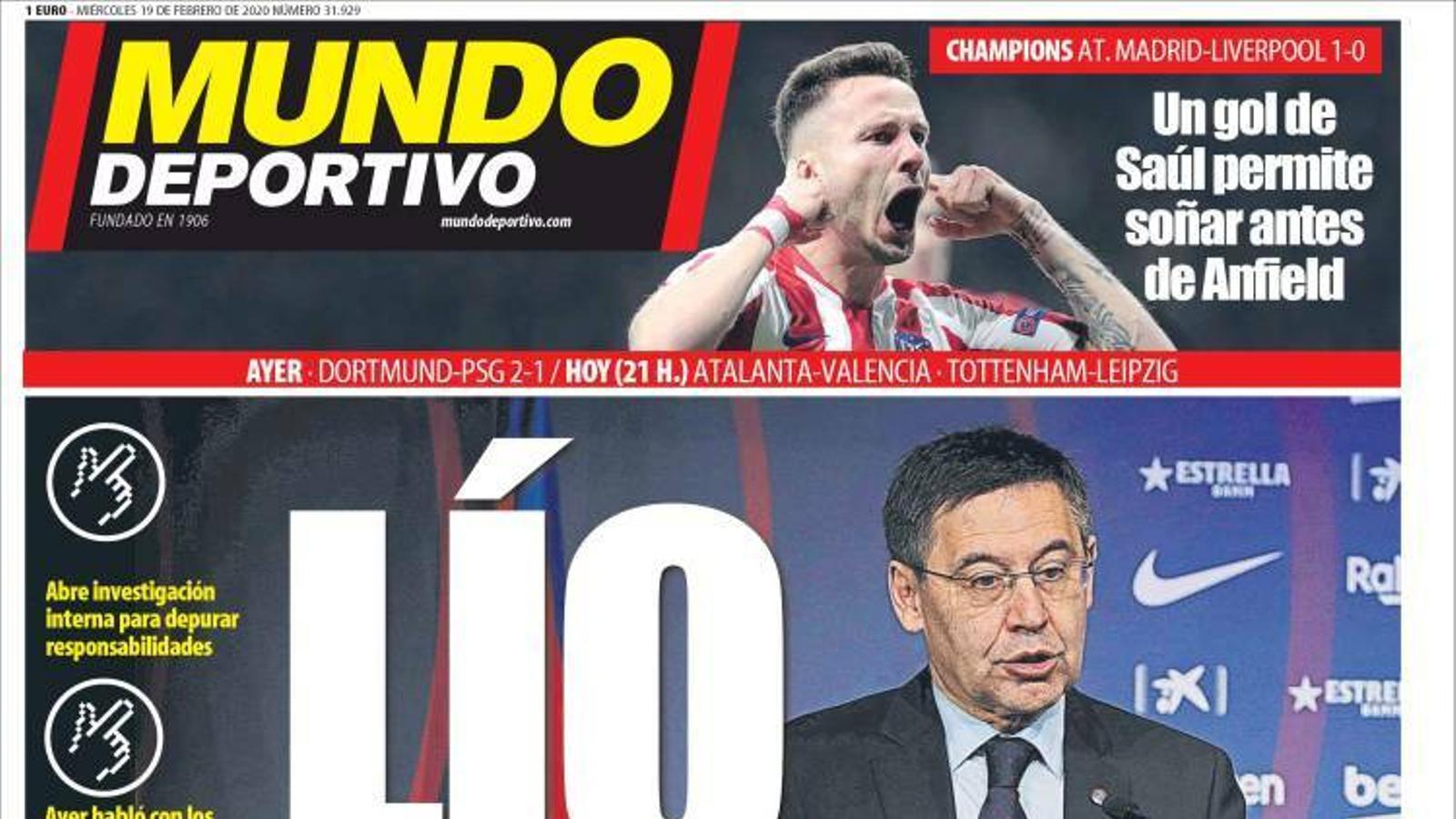 'Mundo deportivo' i 'Sport', cara i creu amb l'escàndol del Barça
