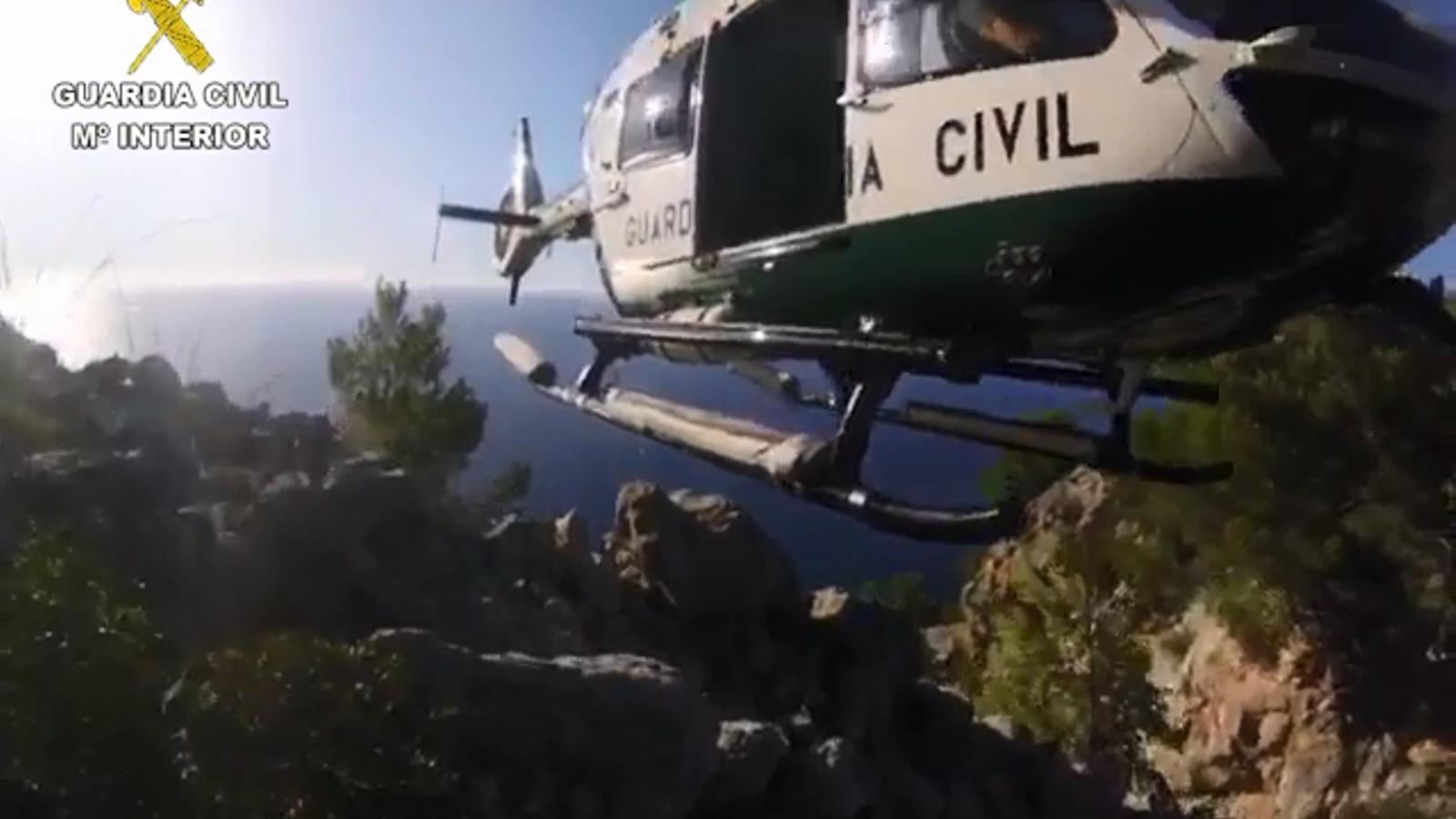 El rescat de tres senderistes francesos a Sóller, aquest dimecres